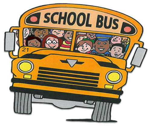 clipart-front of bus with children